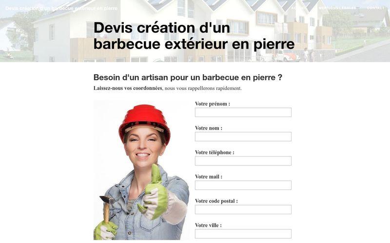 Qui contacter pour la création d'un barbecue extérieur en pierre ?